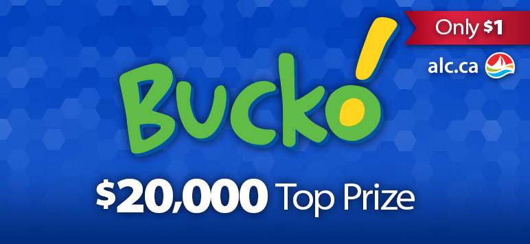 Bucko! - Only $1 - alc.ca - $20,000 Top Prize