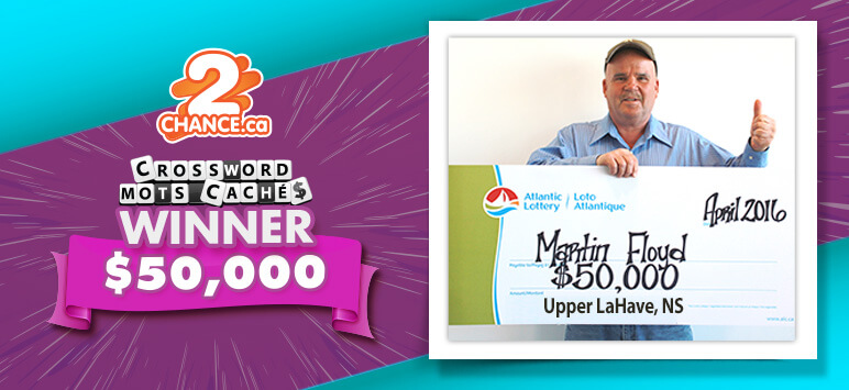 Crossword Winner $50,000 - Martin Floyd, Upper LaHave, NS