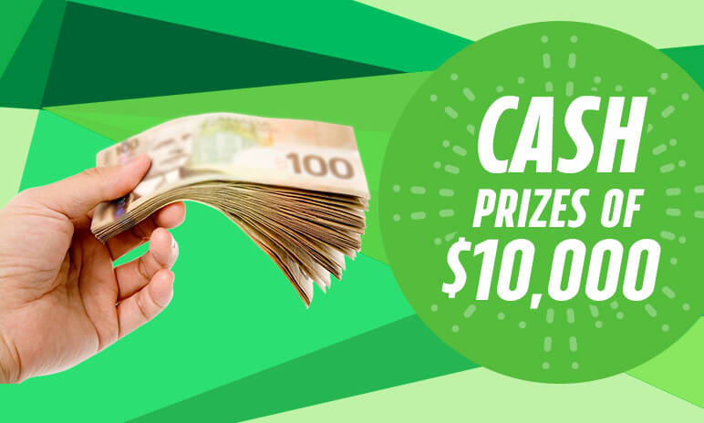 CASH PRIZES OF $10,000